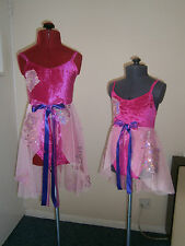 x2 GORGEOUS Lyrical slow modern ballet team dance costumes PINKS £20 each    B2