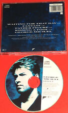 XX RARE GEORGE MICHAEL PICTURE CD DISC WAITING FOR THAT DAY +FATHER FIGURE AFOOL
