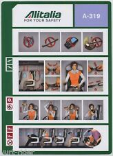 ALITALIA CAI A-319 safety card 64502130 23/11/2010 - very good cond sc561