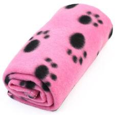 New Lovely Paw Print Soft Warm Fleece Pet Blanket Dog Cat Mat Puppy Bed Sofa