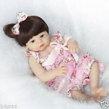 "23"" Whole Silicone Body Bambole Reborn Baby Doll Girl Lifelike Baby Doll Kids"