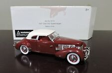 MIB DIECAST SIGNATURE 1937 CORD 812 SUPERCHARGED  NATIONAL MOTOR MUSEUM - W/ COA