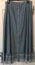 NWT Ralph Lauren Jeans Co Great Plains Long Modest Prairie Skirt SZ 12