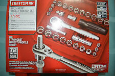 "Craftsman 30 pc. Max Axess 1/4"" & 3/8"" Drive Socket Wrench Set #3282 - New"