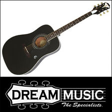 Epiphone Pro-1 Plus Solid Top Acoustic Guitar Ebony Finish RRP$399