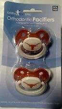 Texas Longhorns Baby Infant Pacifiers NCAA NEW - 2 Pack  GREAT SHOWER GIFT!