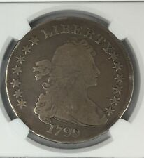 1799 Draped Bust Silver Dollar ~ Large Eagle !!! NGC G 4 !!! Even Tone !!! RARE