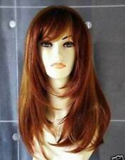 HE-J1058  fancy long style copper red mix curly hair lady wigs for women wig