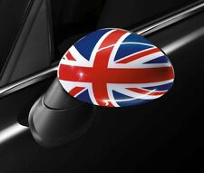 New - 2 Blue/Red Uk Union Flag Cover mirrors Vinyl Decal Sticker Mini Cooper