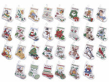 Cross Stitch Kit ~ Plaid-Bucilla 30 Christmas Tiny Stocking Ornaments #84293