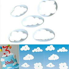 5Pcs White Cloud Plastic Fondant Cutter Cake Mold Fondant Cake Decorating Tools