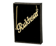 """Name Necklace """"RUKHSAR"""" - 18ct Gold Plated - Wedding Appreciation Gifts For Her"""