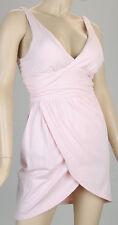 Victoria's Secret Pink Cotton Cross Over Summer Beach Padded Bra Tops Dress Sz S