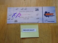 Trevor Daley Autographed 2002 NHL Entry Draft Ticket   Free s/h