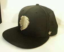 RARE BLACK & GOLD MONARK LION SNAPBACK CAP/HAT BY '47 BRAND EMBROIDERED RETIRED