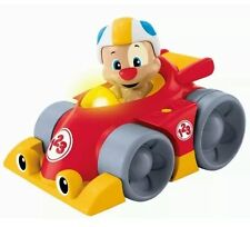 FISHER PRICE BABY CHILDS TOY LAUGH AND LEARN PUPPY PRESS N GO CAR FREE P&P NEW