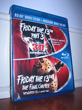 FRIDAY THE 13th Part III in 3D + Part IV 4 THE FINAL CHAPTER Blu-Ray *SEALED OOP
