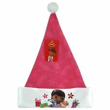 "New Doc Mc Stuffins 16"" Christmas Felt Hat with Satin Cuff & Hangtag"