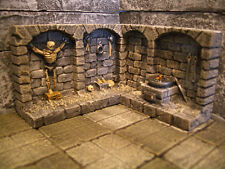 Dungeon Cell Wall 2 pieces Unpainted Resin Thomarillion Dwarven Forge D&D