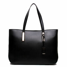 Ladies Designer PU Leather Large Tote Bag Shoulder Satchel Handbag