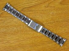 Oyster Style Silver Tone 16mm-22mm Stainless Steel Metal Watch Bracelet Band