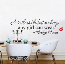 Home Wall Smile Marilyn Monroe Quote Vinyl Art Mural Decor Decal Wall Stickers