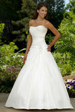 White/Ivory A-line Bridal Gown Wedding Dress Custom Size 4 6 8 10 12 14 16 18 20