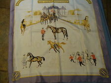 Hermes silk scarf, LES HARAS NATIONAUX