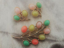 °candy land° froehliches buntes set demi parure sarah coventry 70er
