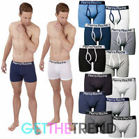Mens 6 Pack Plain Boxer Shorts Keyhole Button Fly Boxers Trunks S M L XL Multi