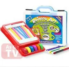 Rainbow Art Complete Watercolor Painting Kit as Seen on TV & 4 wild stencils.