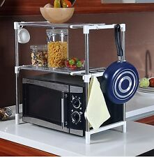 2 Tier Microwave Oven Stand Storage Rack Shelf Space Saving Kitchen Shelf