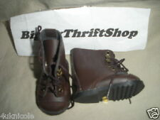 PLEASANT COMPANY AMERICAN GIRL DOLL BROWN LACED UP BOOTS AUTHENTIC HIKING