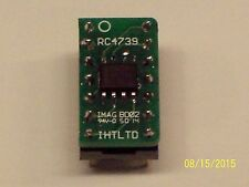 RC4739 uA739 MC1303 Drop In DIP Board Ultra Low Noise OP AMP NE5532A Upgrade