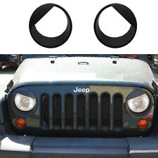 2X ABS Bezels Angry Bird Headlight Trim Cover Fit For Jeep Wrangler JK 07-16