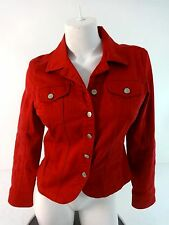 LIVE A LITTLE WOMENS RED COTTON SPANDEX CASUAL JACKET SIZE S