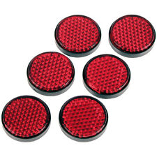Motorcycle Gear Gremlin Round Adhesive Reflectors - Red UK Seller