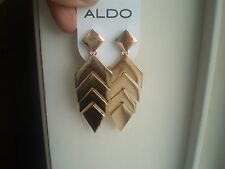 ALDO  GOLD TONE HUGE DANGLING GEOMETRIC STYLE EARRINGS
