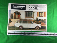 rare British market Wartburg Knight Tourist Estate Car brochure East German car