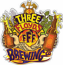 "Three Floyds Brewing Beer Bar Alcohol  Bumper sticker, wall, vinyl, bumper 5""x5"""