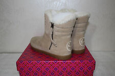 Tory Burch Loriner Bootie Ankle Boots Shierling Size 8 Camel Split Suede $350