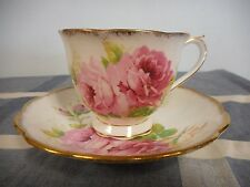 "Vintage Royal Albert Bone China "" American Beauty "" Tea Cup and Saucer Roses"