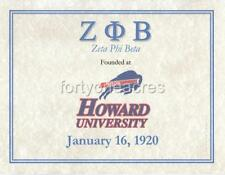 FOUNDED AT Series - Zeta Phi Beta Print - HOWARD UNIV (Version 1)