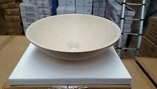 400mm Round Hand Made Stone Above Counter Basin / Bathroom / Modern Marble
