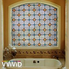 "Frosted Diamond Tile Window Glass Decorative Privacy Home Vinyl Film 36"" x 24"""