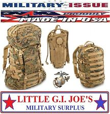 NEW MARINE GEN II USMC ILBE COMPLETE SET BACKPACK, ILBE ASSAULT PACK & HYDRATION