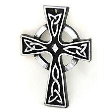 Claddagh irlandais celtique argent petits métiers croix plaque