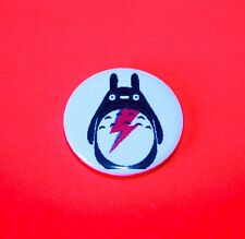 TOTORO DAVID BOWIE ALADDIN SANE BUTTON PIN BADGES