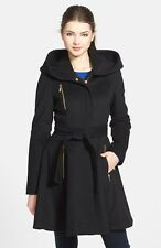 Laundry By Shelli Segal Womens Wool Blend Hooded Fit & Flare Coat