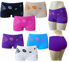 6 Pk LADIES WOMEN BOXER SHORTS SEAMLESS UNDERWEAR PANTIES BOYSHORTS